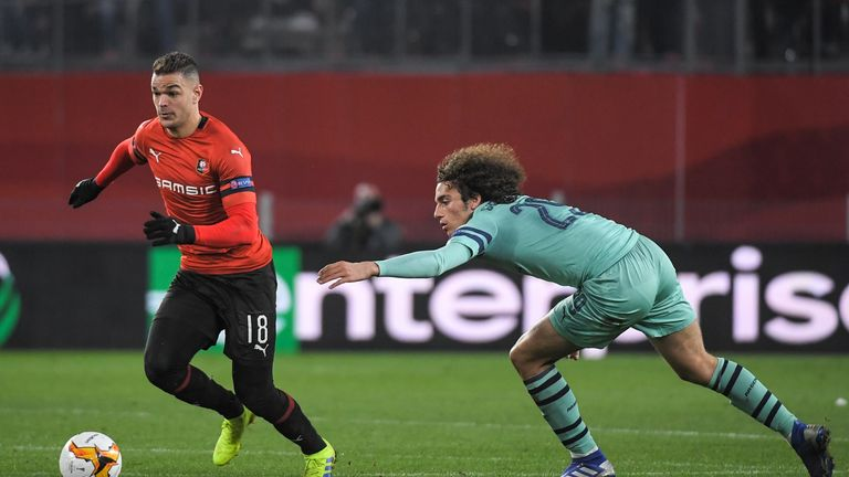 Hatem Ben Arfa appeared to laugh at Unai Emery as Rennes beat Arsenal 3-1 on Thursday