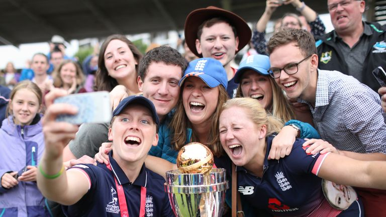 Knight captained England to the World Cup title at Lord's in July 2017