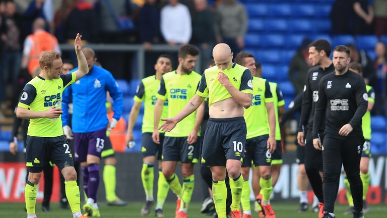 Huddersfield Town were the first side to be relegated from the Premier League