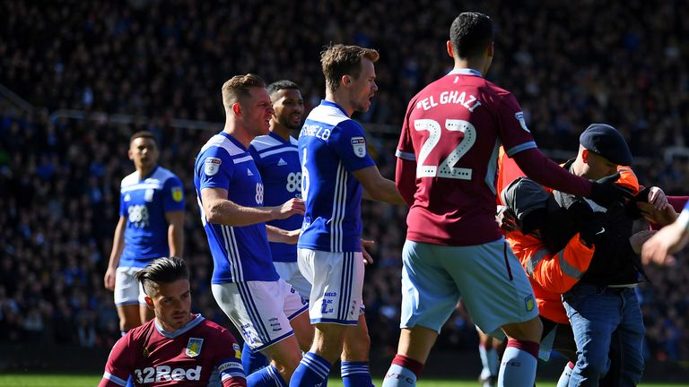Jack Grealish was assaulted by a fan during Aston Villa's match at Birmingham