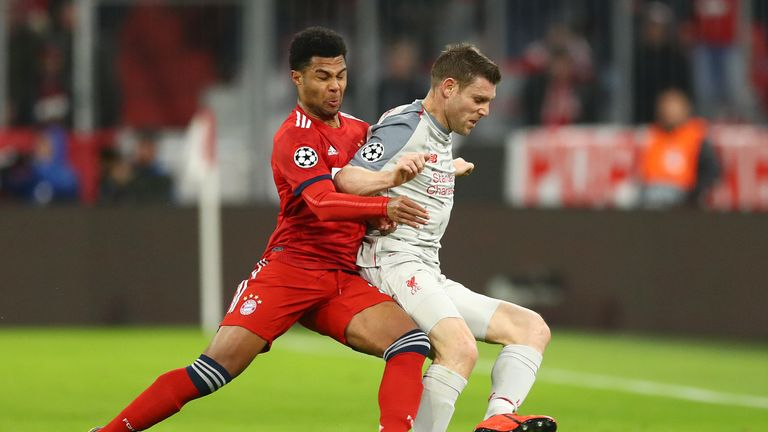 James Milner started in the Allianz Arena as Liverpool secured their place in the last-eight draw, which takes place on Friday