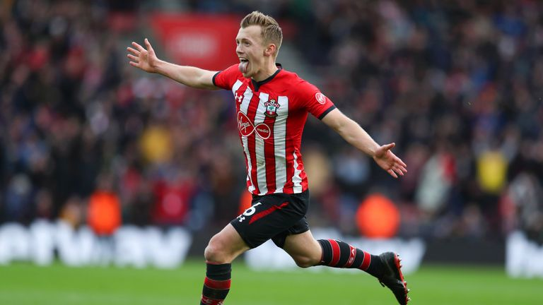 James Ward-Prowse maintained his ascent up the chart this week after scoring in his third successive game