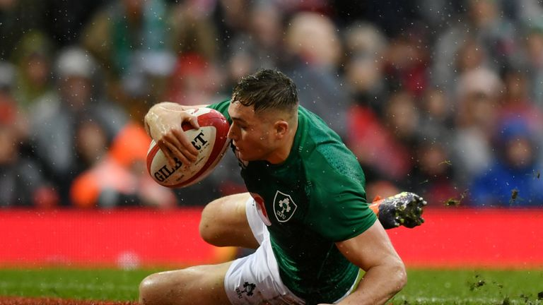 Jordan Larmour ensured Ireland were not nilled on the day with a late consolation score