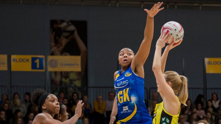 Manchester Thunder are locked on points with Saracens Mavericks in the table. Photo Credit (Clare Green for Matchtight)