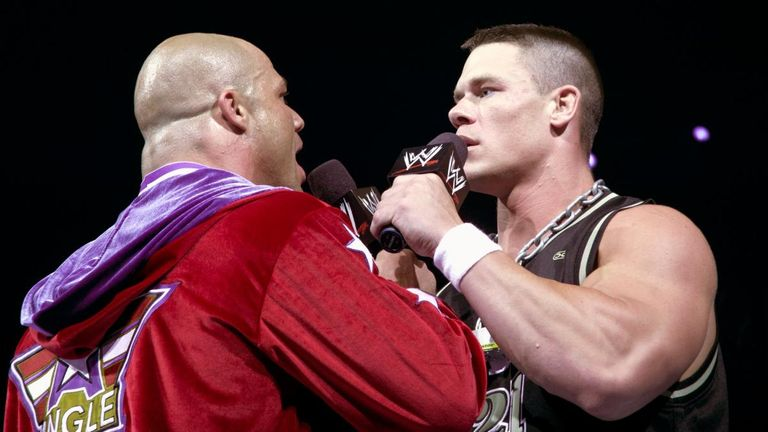 John Cena had his debut match against Kurt Angle in 2002 and their paths have crossed