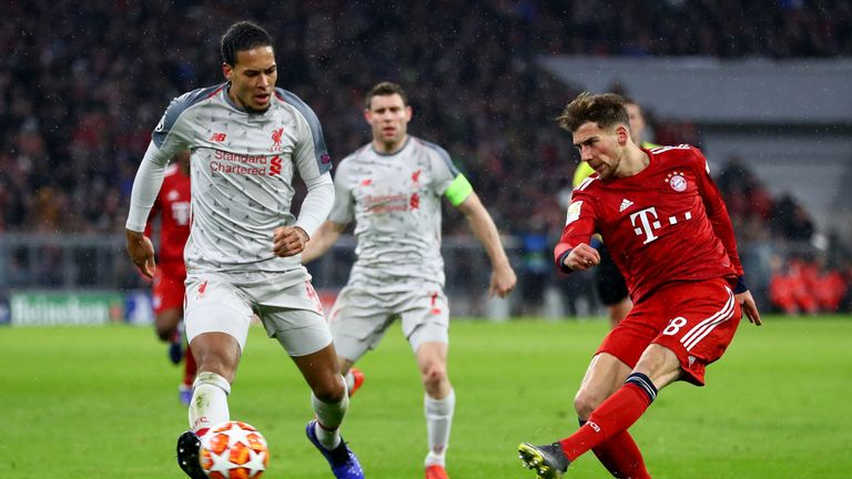 Leon Goretzka came on as a 72nd minute substitute in the 3-1 loss to Liverpool on Wednesday