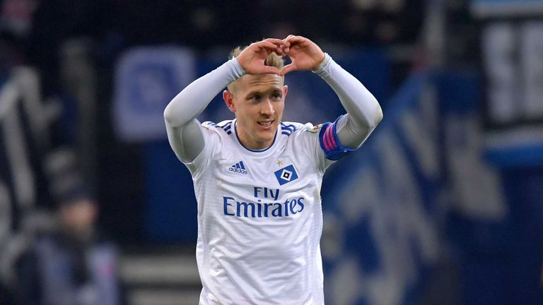 Former Tottenham midfielder Lewis Holtby now plays for Hamburg