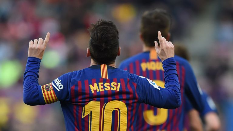 Messi has scored 42 goals this season