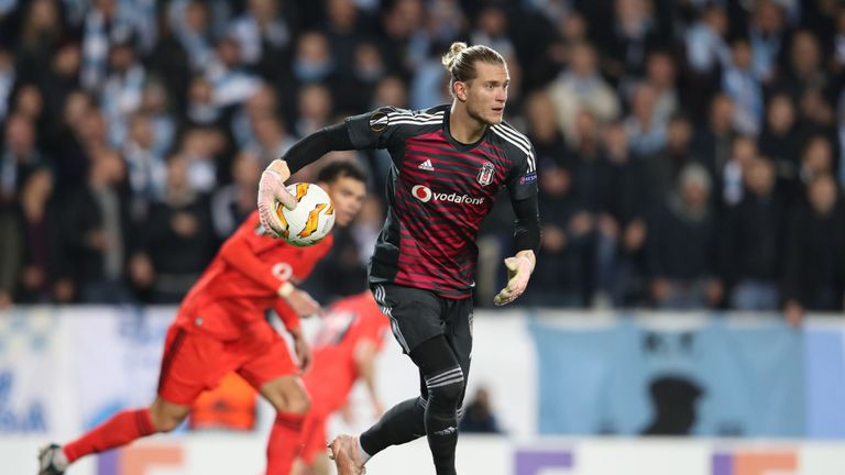 Karius conceded eight goals in his last four league games for Besiktas