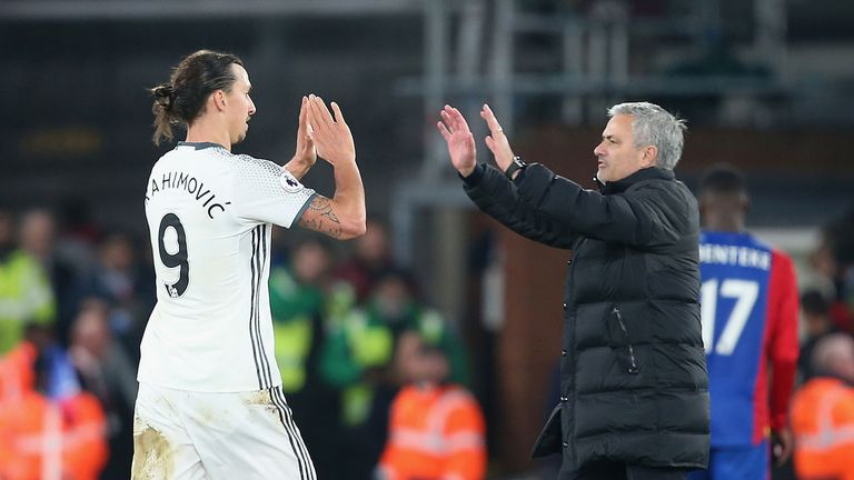 Ibrahimovic scored 29 times in 53 appearances for Manchester United under Jose Mourinho