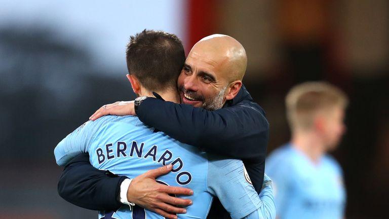 Pep Guardiola was full of admiration for Bernardo Silva after Fulham win