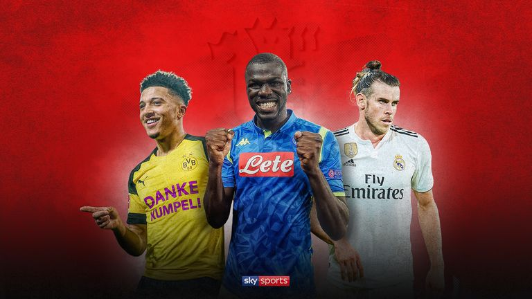 Jadon Sancho, Kalidou Koulibaly and Gareth Bale have been linked with Manchester United