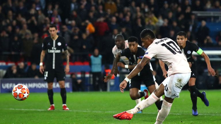 Marcus Rashford ruthlessly converted United's crucial penalty deep into stoppage-time
