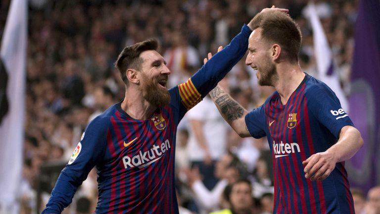 Ivan Rakitic says the Barcelona squad aim to follow in Messi's footsteps
