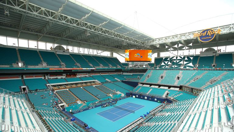 The new centre court stadium at the Miami Open