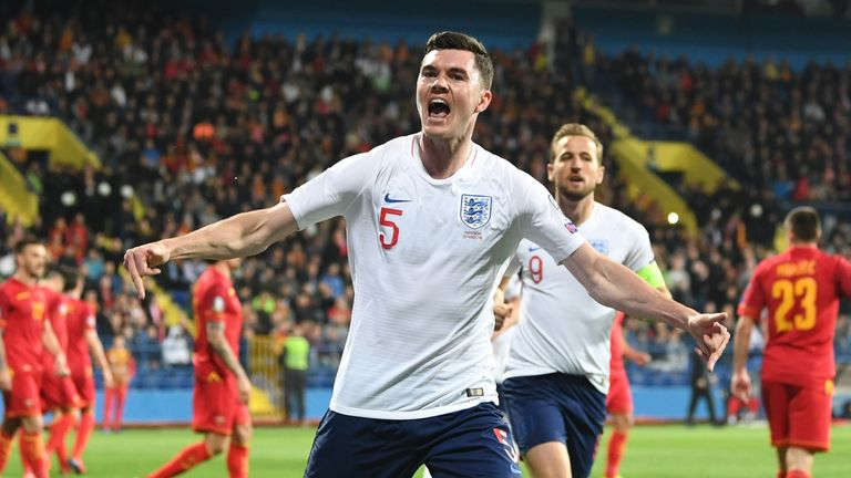 Michael Keane scored the equaliser for England against Montenegro