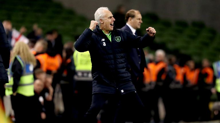 McCarthy celebrates Republic of Ireland's victory over Georgia