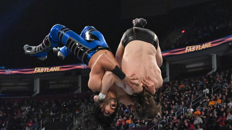 Ali is renowned for his eye-catching, high-flying moves and exhibited plenty of them in his WWE title match at Fastlane