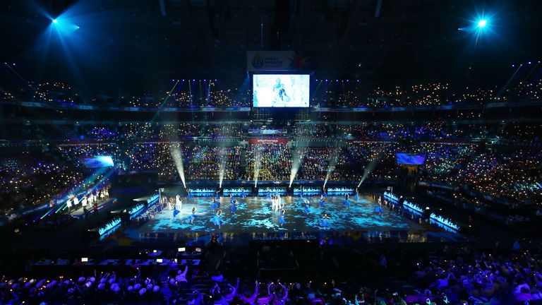 The 2015 Netball World Cup Opening Ceremony at Allphones Arena in Sydney