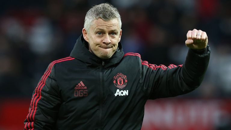 Solskjaer has lost just three times since taking charge of United
