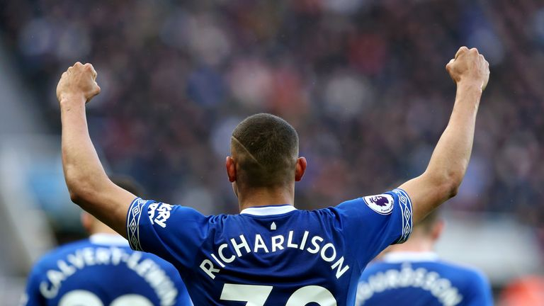 Richarlison's goal in Everton's 2-0 win against Chelsea took his tally to 12 for the season