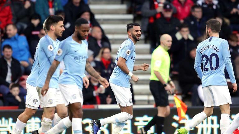 Riyad Mahrez scored the winning goal for Man City on Saturday