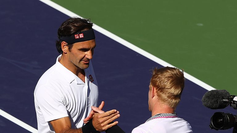 Roger Federer defeated Kyle Edmund in 63 minutes at Indian Wells on Wednesday