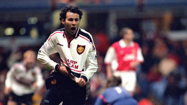 Ryan Giggs scored a famous goal against Arsenal in the 1999 FA Cup semi-final replay at Villa Park