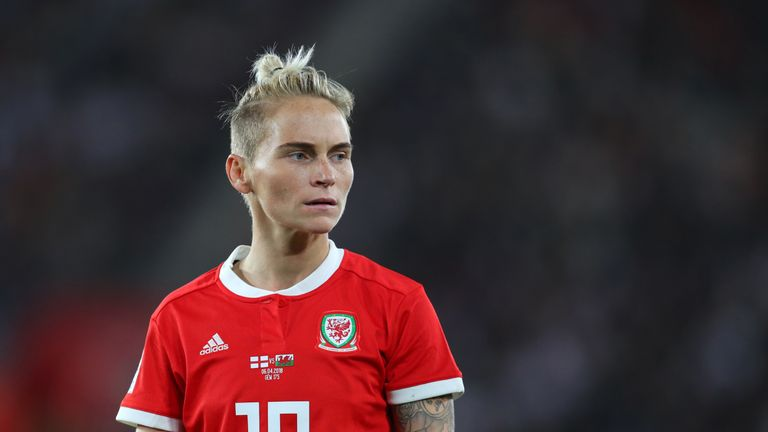 Jess Fishlock was named Welsh women's player of the year for the fifth time.