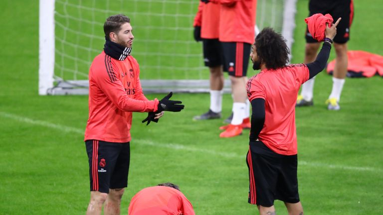 Sergio Ramos played down a confrontation with Marcelo (R)