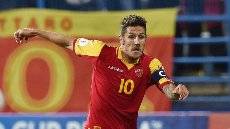 Montenegro will be without former Man City forward Stevan Jovetic