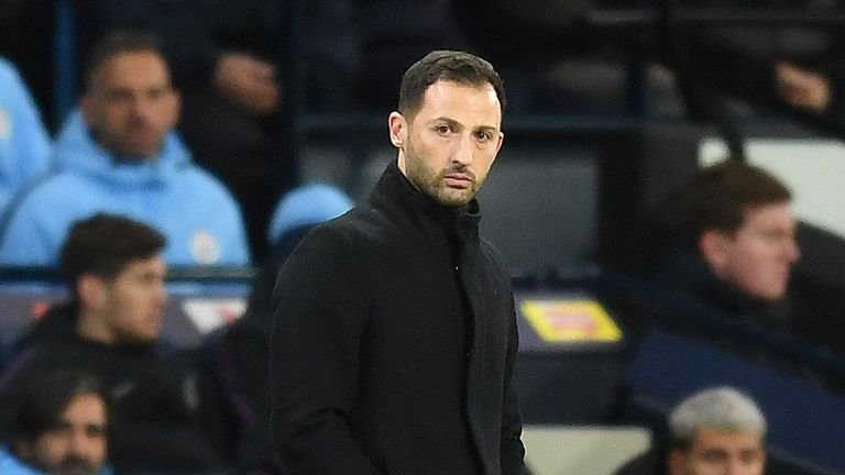 Domenico Tedesco said he would not resign after the 7-0 defeat to Manchester City