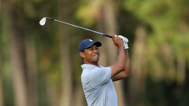Tiger Woods was cruising at three under before his drama at 17