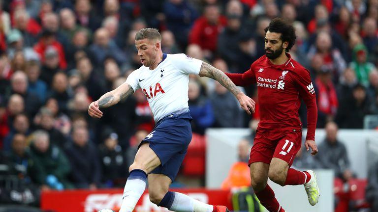 Toby Alderweireld denied Mohamed Salah with a block