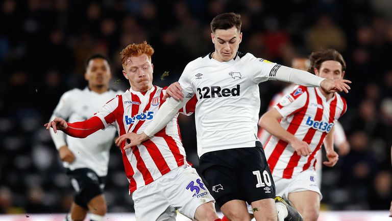 It finished goalless at Pride Park