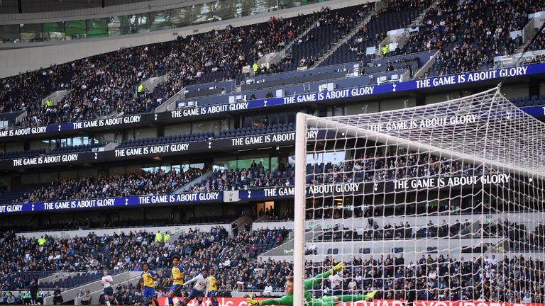 J'Neil Bennett of Tottenham scores his team's first goal
