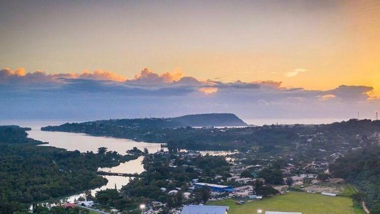A picturesque view of Vanuatu's national stadium