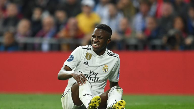 Real lost Vinicis Jr to injury three minutes as Lucas Vazquez limped off