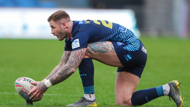 Wigan's Zak Hardaker kicked five goals in the victory