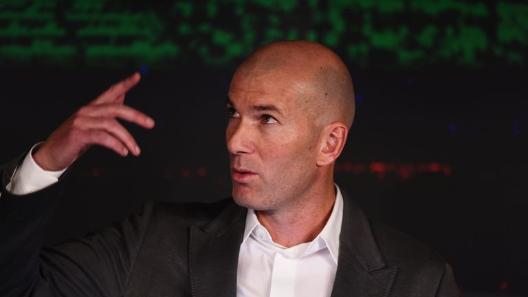"Zinedine Zidane says he has ""recharged his batteries"" and is ready to manage again"