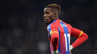 Wilfried Zaha has returned to Crystal Palace following his involvement in the African Cup of Nations