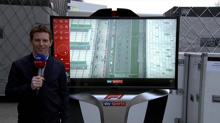 Anthony Davidson examines the start of the Chinese GP on the SkyPad