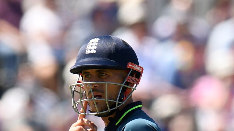 Alex Hales was withdrawn from England's preliminary World Cup squad