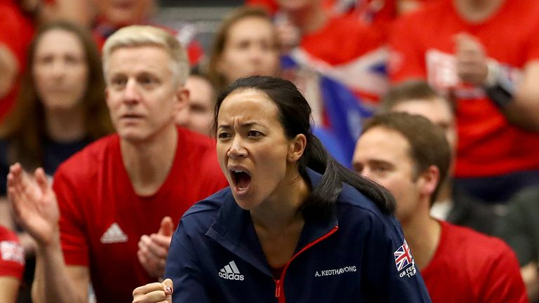 Great Britain will take on Kazakhstan at the Copper Box, near to where Keothavong grew up in Hackney