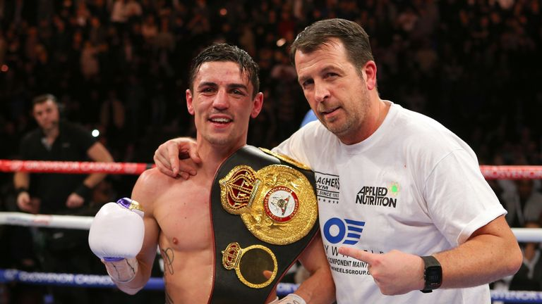 Former WBA champion Anthony Crolla and long-time trainer Joe Gallagher
