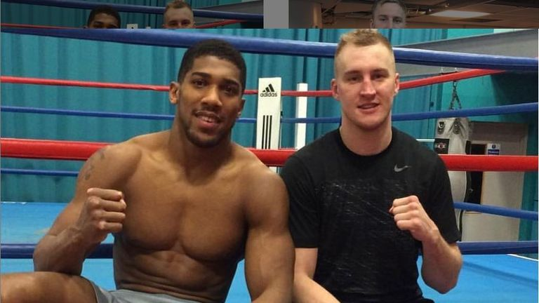 Wallin has traded punches with Anthony Joshua in sparring (picture courtesy of Otto Wallin's Instagram account)