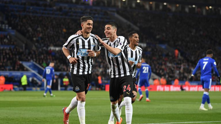 "Newcastle signed Miguel Almiron (centre) in January but it was ""too little, too late"", according to Keith Downie"