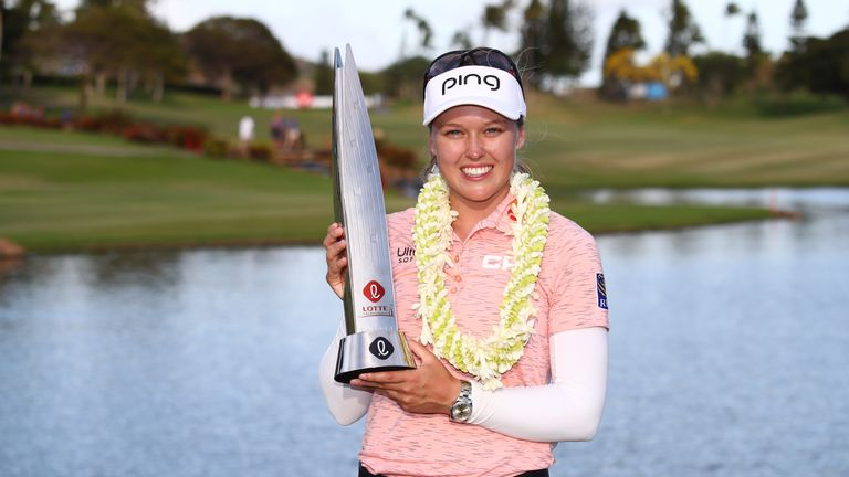 Brooke Henderson retains her title at the Lotte Championship