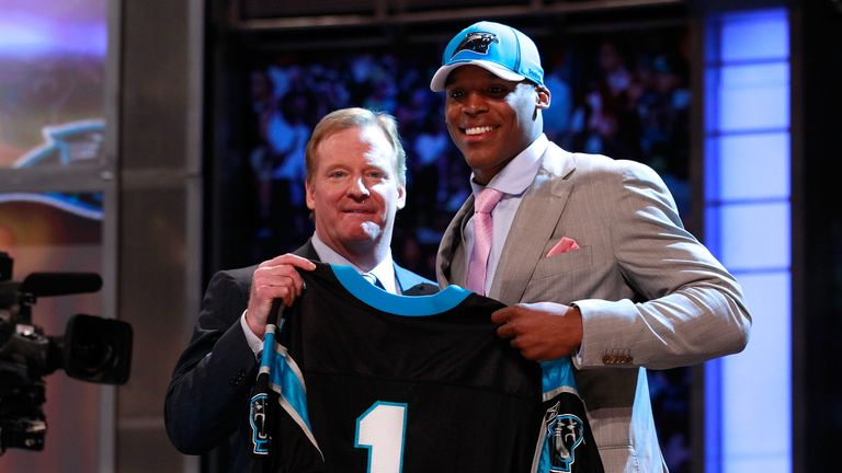 Cam Newton is one of seven quarterbacks to have been taken with the top selection in the last 10 NFL Drafts