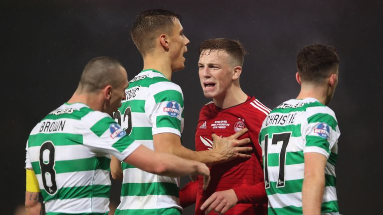 Celtic beat Aberdeen in the Scottish League Cup final in December